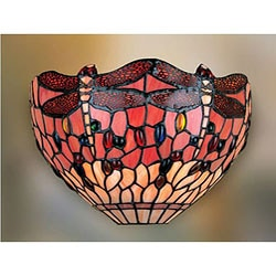Tiffany-style Dragonfly Wall Lamp