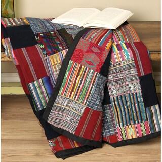 Handmade Puzzle Patchwork Quilt (Guatemala)