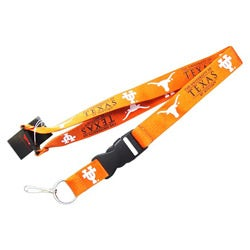 Texas Longhorns Clip Lanyard Keychain ID Holder