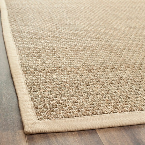 Safavieh Casual Natural Fiber Natural and Beige Border Seagrass Runner (2'6 x 8')