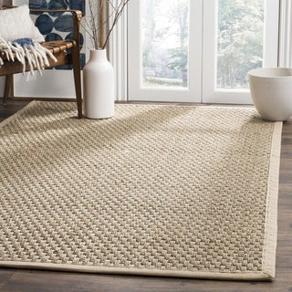 Safavieh Casual Natural Fiber Natural and Beige Border Seagrass Rug (3' x 5')