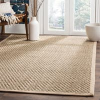 Safavieh Casual Natural Fiber Natural and Beige Border Seagrass Rug (8' x 10') - 8' x 10'