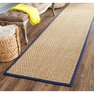 Safavieh Casual Natural Fiber Natural and Blue Border Seagrass Runner (2'6 x 12') https://ak1.ostkcdn.com/images/products/4256768/P12244003.jpg?_ostk_perf_=percv&impolicy=medium