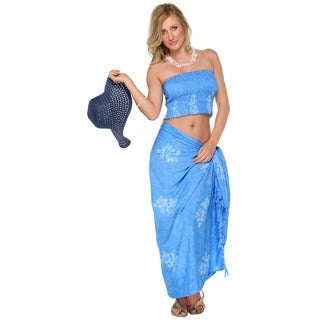 Hibiscus One Size Sarong Set (Indonesia)