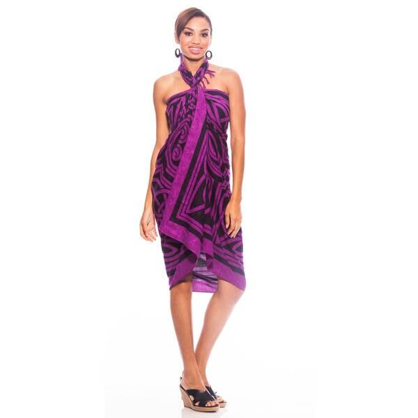 1 World Sarongs Women's Royal Purple Celtic Circles Sarong (Indonesia)