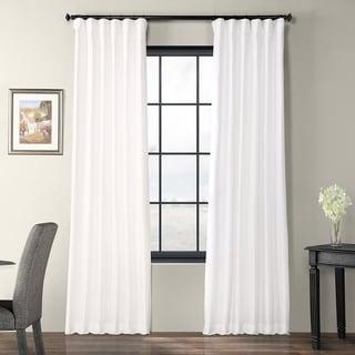 Exclusive Fabrics Signature White Faux Silk Curtain Panel