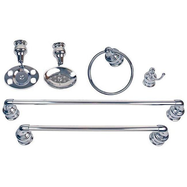 Moen Decorator 6 Piece Chrome Bath Accessory Kit
