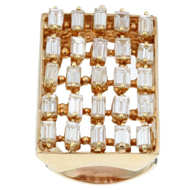14k Gold 4ct TDW Diamond Estate Cocktail Ring (J, SI1) (Size 6.75)