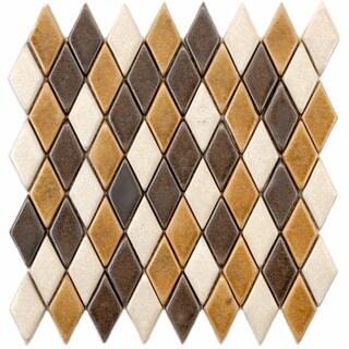 SomerTile 12x12-in London Argyle 1x20.5-in Tahoma Ceramic Mosaic Tile (Pack of 5)