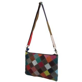 Amerileather Zigzagger Shoulder Bag (Option: Rainbow / Square (535-9))