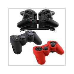 Insten Remote Controller Charger with 2 Skin Cases for Sony PS3