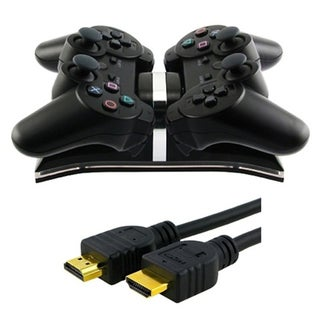 Insten HDMI Cable and USB Dual Charger for Playstation 3