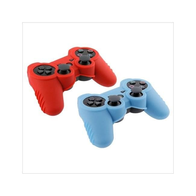 Insten Blue Red Controller Skins for PlayStation 3 (Pack of 2)