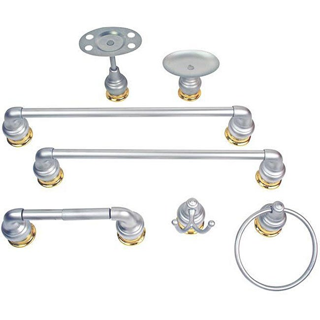 Moen Platinum/ Polished Brass 7-piece Bath Accessory Set