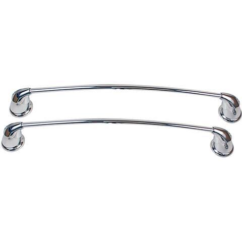 Moen Asceri Two Piece Chrome Towel Bar Set