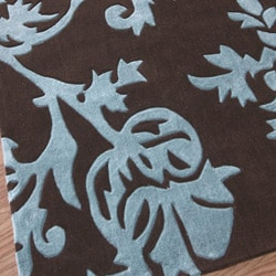 nuLOOM Hand-tufted Pino Collection Floral Blue Rug (7'6 x 9'6) - Thumbnail 2