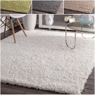 Clay Alder Eggner White Soft and Plus Shag Rug (8' x 10')