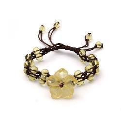 Gemstone Flower Bracelet (China)