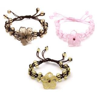 Handmade Gemstone Flower Bracelet (China)
