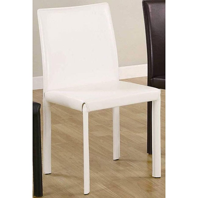 Euro Design White Dining Chairs (Set of 4)