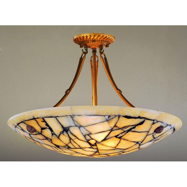 Alabaster Stone Five-Light 60-Watt Ceiling Lamp