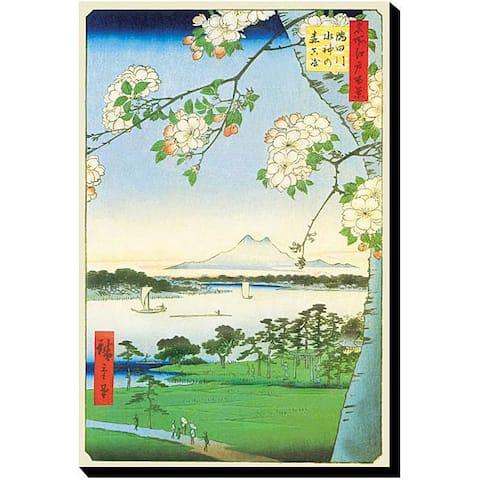 Utagawa Hiroshige 'Cherry Blossoms' Gallery-wrapped Canvas Art