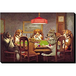 CM Coolidge 'Passing The Ace' Gallery-wrapped Canvas Art