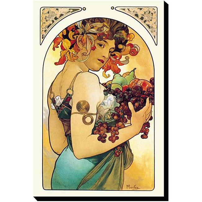 Alphonse Maria Mucha 'Fruit' Gallery-wrapped Canvas Art