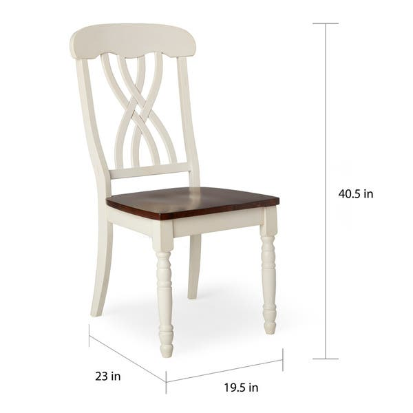 Awesome Shop Mackenzie Country Style Two Tone Dining Chairs Set Of Beatyapartments Chair Design Images Beatyapartmentscom