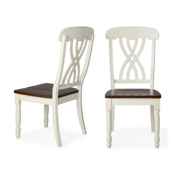 Terrific Shop Mackenzie Country Style Two Tone Dining Chairs Set Of Beatyapartments Chair Design Images Beatyapartmentscom