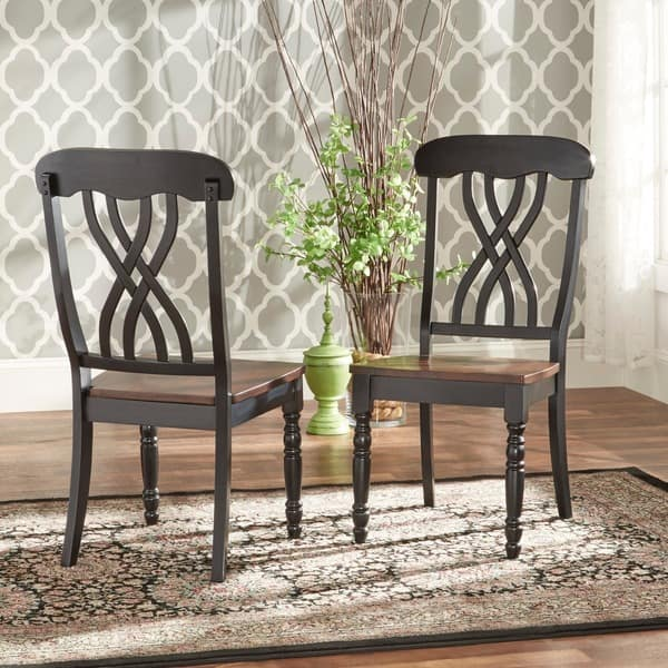 Tremendous Shop Mackenzie Country Style Two Tone Dining Chairs Set Of Beatyapartments Chair Design Images Beatyapartmentscom