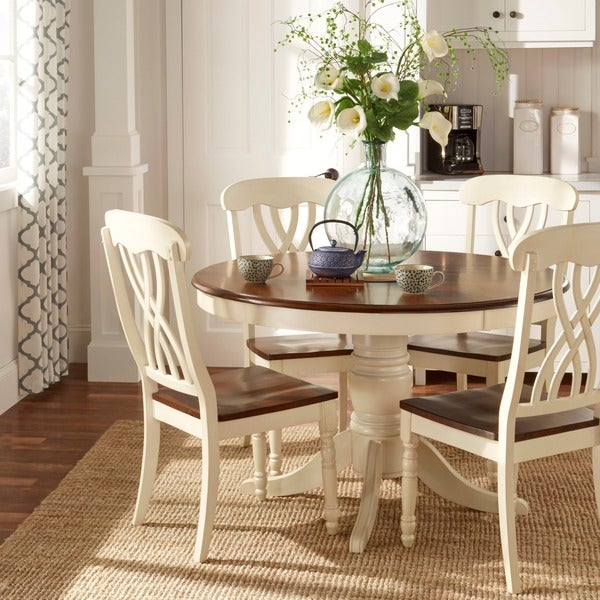 Mackenzie Country Style Two-tone Dining Chairs Set of  by