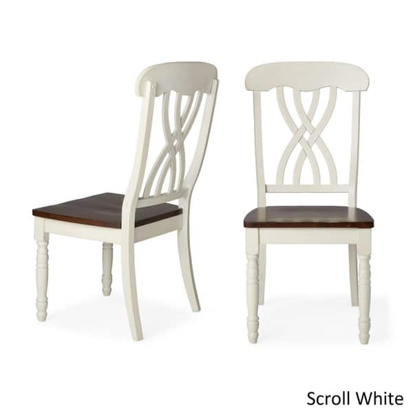 Miraculous Shop Mackenzie Country Style Two Tone Dining Chairs Set Of Pabps2019 Chair Design Images Pabps2019Com