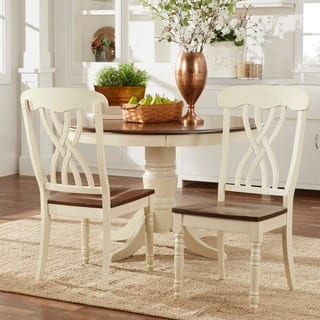 mackenzie country style two tone dining chairs set of 2 by inspire q - Kitchen Dining Chairs