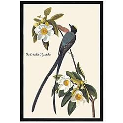 John James Audubon 'Fork Tail Fly Catcher' Framed Print Art - Thumbnail 0