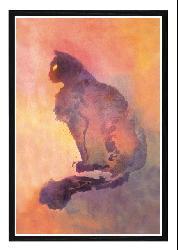 'Purple Cat' Framed Print Art - Thumbnail 1