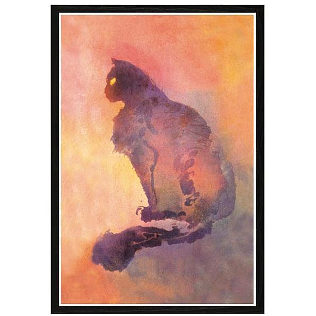 'Purple Cat' Framed Print Art