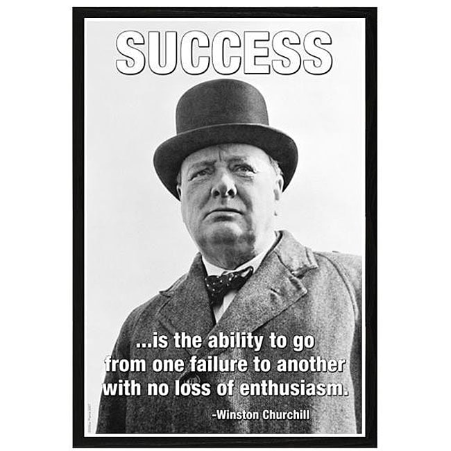 470565943e388 Shop  Success - Winston Churchill  Framed Art Print - Free Shipping ...