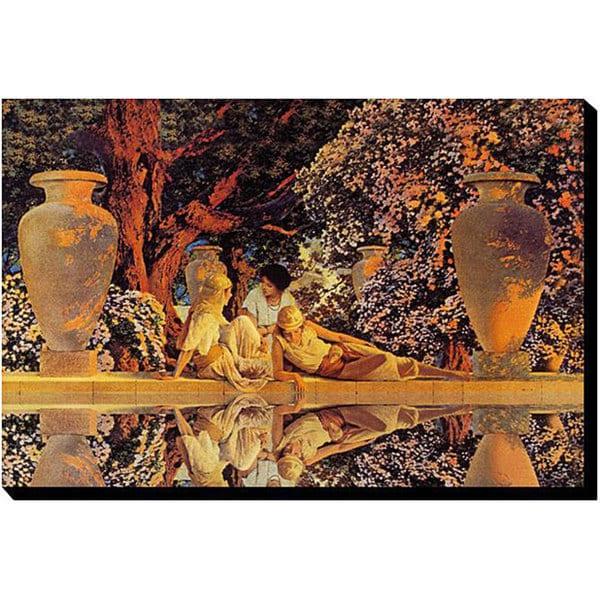 Maxfield Parrish 'Garden of Pleasure' Canvas Art