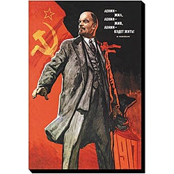 'Lenin Lived' Giclee Gallery-wrapped Canvas Art