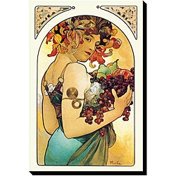 Alphonse Maria Mucha 'Fruit' Giclee Gallery-wrapped Canvas Art