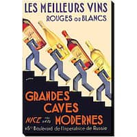 'Les Meilleurs Vins' Giclee Gallery-wrapped Canvas Art