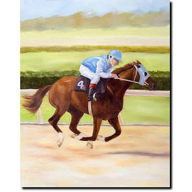 Michelle Moate 'Horse of Sport II' Canvas Art