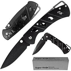 Black Raiders Lock/ Clip Stealth Knife - Thumbnail 0