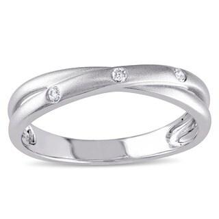 Miadora 10k White Gold Diamond Accent Ring
