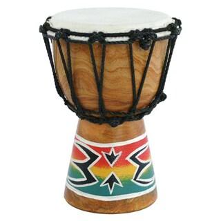 Handmade Mini Djembe Drum with Goatskin Head and Mahogany Shell (Indonesia)