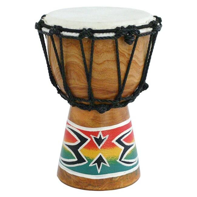 Mini Djembe Drum with Goatskin Head and Mahogany Shell (Indonesia)