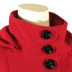 Esprit Women's Single-breasted Hooded Wool Jacket - Thumbnail 2