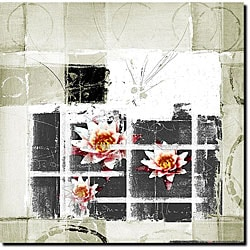 Miguel Paredes 'Abstract Flower II' Canvas Art