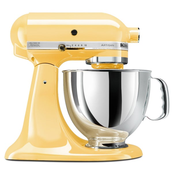 Nice KitchenAid KSM150PSMY Majestic Yellow 5 Quart Artisan Tilt Head Stand Mixer    Free Shipping Today   Overstock.com   12254875